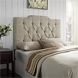 PRI Tufted Panel Headboard in Tan I