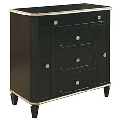 PRI Sterling Accent Jewelry Armoire in Black