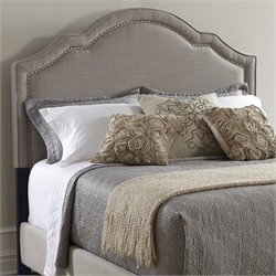 MER-1242 Shaped Nailhead Upholstered Headboard in Gray