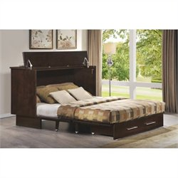 Arason Enterprises Creden-ZzZ Cabinet Bed in Original Coffee