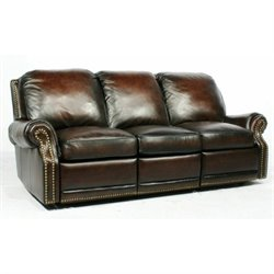 Barcalounger Premier II Leather Reclining Sofa in Stetson Coffee