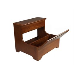 Bernards Queen Anne Step Stool with Storage in Oak