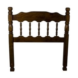 Spindle Headboard in Dark Pine