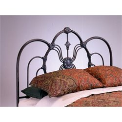 Bernards Madrid King Ornate Spindle Headboard in Steel