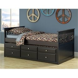 Bernards Captains Bed in Black