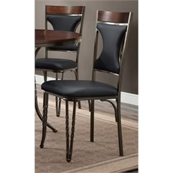 Bernards Westwind Metal Dining Chair in Black