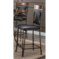 Bernards Westwind Metal Bar Stool in Black