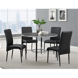 Bernards Arena Glass Dining Table in Black