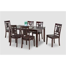 Bernards Sakura 7 Piece Dining Set in Cherry
