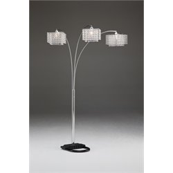 Bernards Silver Crystal Floor Lamp