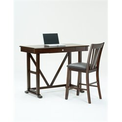 Bernards V Back Writing Desk in Cherry