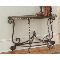 Bernards Metal Etched Console Table