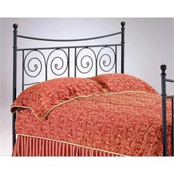 Bernards Sorrento Spindle Headboard in Black