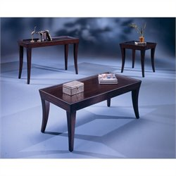 Bernards Versaille 3 Piece Coffee Table Set in Merlot