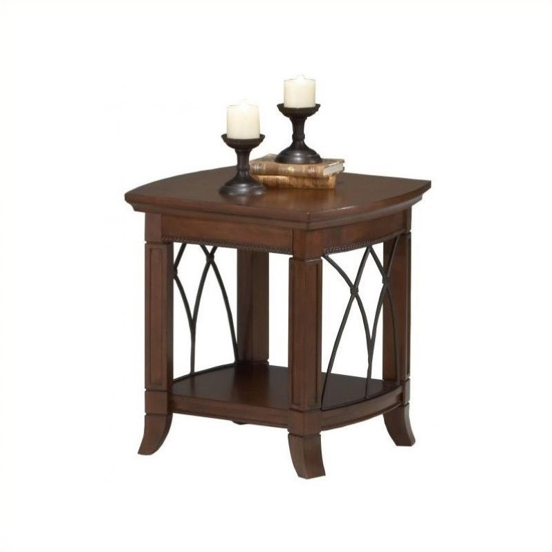 Bernards cathedral end table in cherry 8621