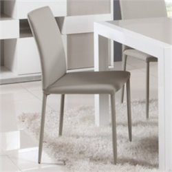 Chintaly Gina Fully Covered Tapered Leg  Dining Chair in Grey