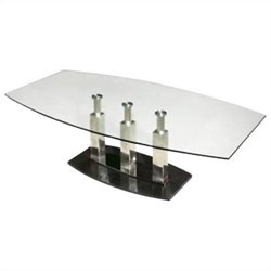 Chintaly Cilla Sofa Table in Clear and Black