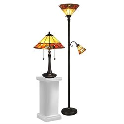 Dale Tiffany Genoa Table Lamp and Floor Lamp