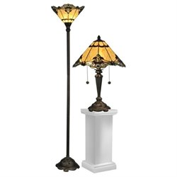 Dale Tiffany Brena Table Lamp and Floor Lamp