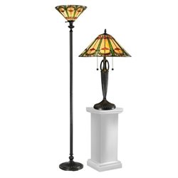 Dale Tiffany Quill Table Lamp and Floor Lamp