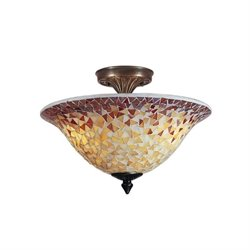 Dale Tiffany Cassidy Mosaic Flush Mount