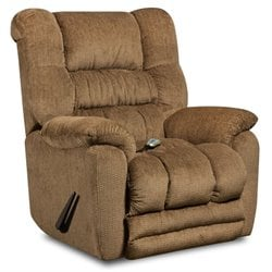 Massage Recliner with Heat in Fawn Beige