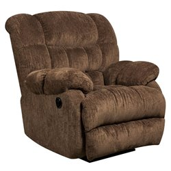 Push Button Power Recliner in Mushroom Brown