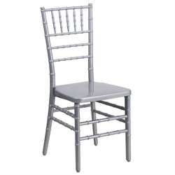 Resin Chiavari Dining Chair in Silver