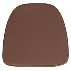 Soft Chiavari Fabric Seat Cushion in Brown