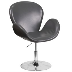 Leather Reception Chair in Gray