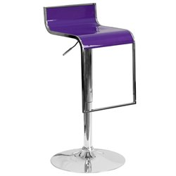 Plastic Adjustable Bar Stool in Purple