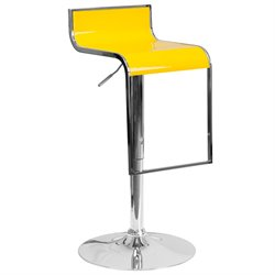 Plastic Adjustable Bar Stool in Yellow