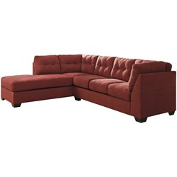 Microfiber Left Facing Sectional in Red