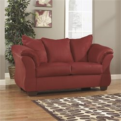 Fabric Loveseat in Red