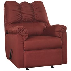 Fabric Recliner in Red
