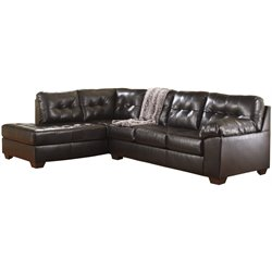 Left Facing Sectional in Chocolate
