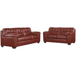 2 Piece Sofa Set in Red