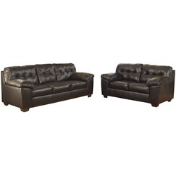 2 Piece Sofa Set in Chocolate