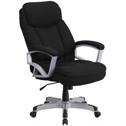 Big and Tall Fabric Swivel Office Chair in Black