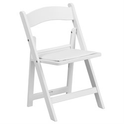 Kids Resin Folding Chair in White