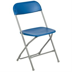 Plastic Folding Chair in Blue