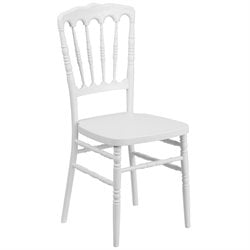 Resin Napoleon Dining Chair in White