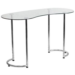 Glass Top Writing Desk in Chrome