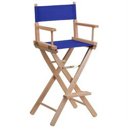 Bar Height Directors Chair in Blue