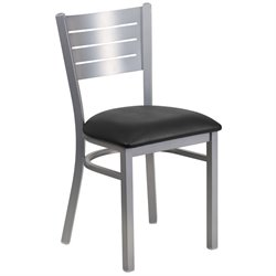 Restaurant Dining Chair in Black and Silver