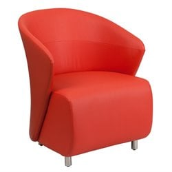 Leather Reception Chair in Red