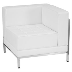 Right Corner Reception Chair in White