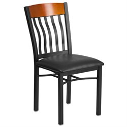 Restaurant Dining Chair in Black and Cherry