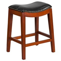 Backless Counter Stool in Black