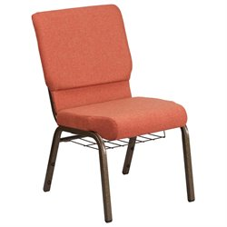 Flash Furniture Hercules Fabric Church Chair in Cinnamon and Goldvein